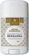 "Parfumuri și produse cosmetice Deodorant stick ""Indian Mandarine"" - Ben & Anna Natural Soda Deodorant Indian Mandarine"