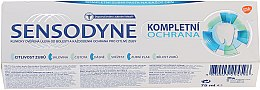 """Parfumuri și produse cosmetice Pastă de dinți """"Protecție completă"""" cu fluor - Sensopdyne Toothpaste"""