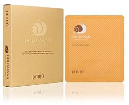 Parfumuri și produse cosmetice Mască cu mucus de melc pentru față - Petitfee & Koelf Gold & Snail Hydrogel Mask Pack