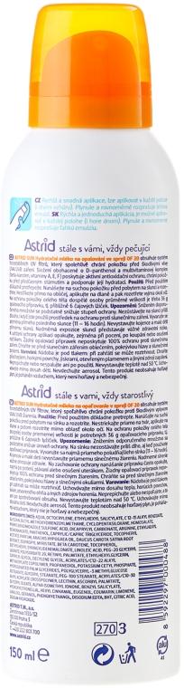Lapte-spray hidratant pentru plajă SPF 20 - Astrid Sun Moisturizing Suncare Easy Spray — Imagine N2