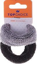 Parfumuri și produse cosmetice Elastice groase pentru păr, 2 buc., negru și sur - Top Choice
