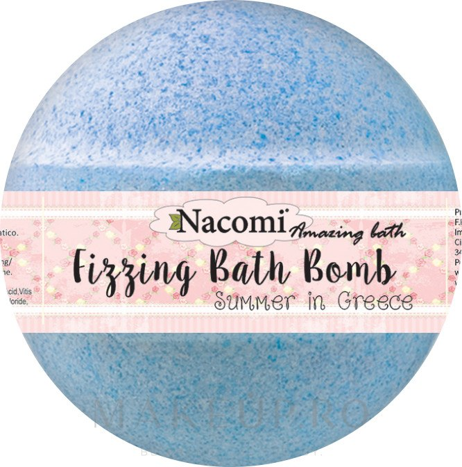 Bilă efervescentă pentru baie - Nacomi Fizzing Bath Bomb Summer in Greece — Imagine 130 g
