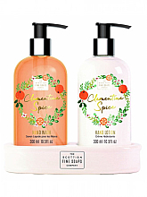 Parfumuri și produse cosmetice Set - Scottish Fine Soaps Spiced Clementine Spice (liquid soap/300ml + hand/lotion/300ml)