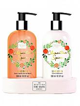 Parfumuri și produse cosmetice Set - Scottish Fine Soaps Spiced Clementine Spice (liquid soap/300ml + hand/lotion/300ml)