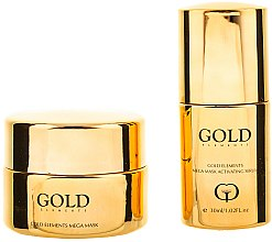 Parfumuri și produse cosmetice Set - Premier Gold Elements Mega Mask (mask/50ml + serum/30ml)