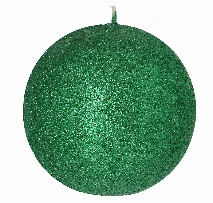 Lumânare decorativă, bilă, verde, 10 cm - Artman Glamour — Imagine N1