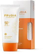 Parfumuri și produse cosmetice Cremă de protecție solară - Frudia Tone Up Base Sun Cream SPF50