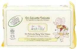 Parfumuri și produse cosmetice Șervețele umede pentru copii, 60buc. - Anthyllis Cleansing Wipes