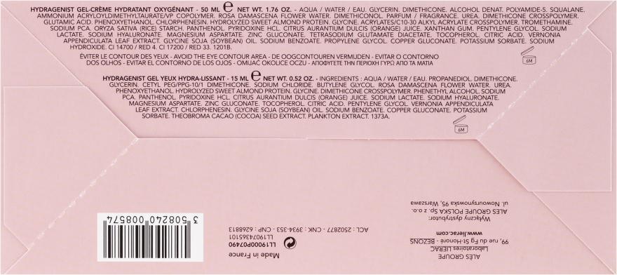 Set - Lierac Hydragenist (gel/cr/50ml + eye/gel/15ml + cosmetics/bag/1) — Imagine N5