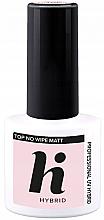 Parfumuri și produse cosmetice Fixator mat de unghii - Hi Hybrid Top No Wipe Matt
