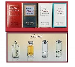 Parfumuri și produse cosmetice Cartier Perfume Mini Set For Men - Set (edt/4ml + edt/2x5ml + edp/5ml)