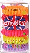 Parfumuri și produse cosmetice Set elastice de păr - Ronney Professional Funny Ring Bubble 8