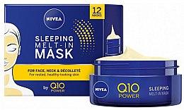 Mască de noapte pentru față - Nivea Q10 Power Sleeping Melt-In Mask — Imagine N1