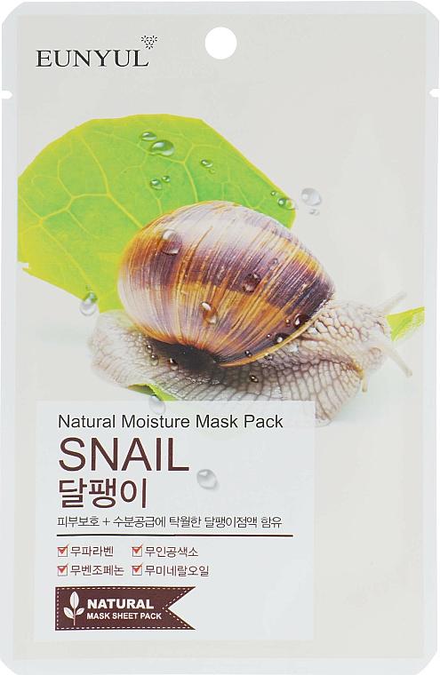 Mască din țesătură cu mucină de melc pentru față - Eunyul Natural Moisture Mask Pack