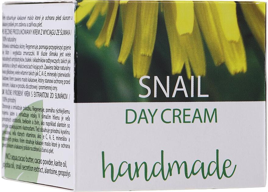 Cremă de zi cu extract de mucină de melc - Hristina Cosmetics Handmade Snail Day Cream — Imagine N1