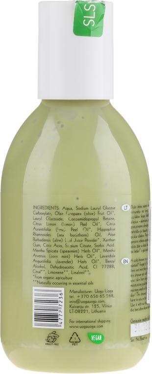 Gel natural cu lime și mentă pentru duș - Uoga Uoga Natural Shower Gel — Imagine N2