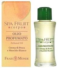 Parfumuri și produse cosmetice Frais Monde Spa Fruit Peach And White Musk Perfumed Oil - Ulei parfumat
