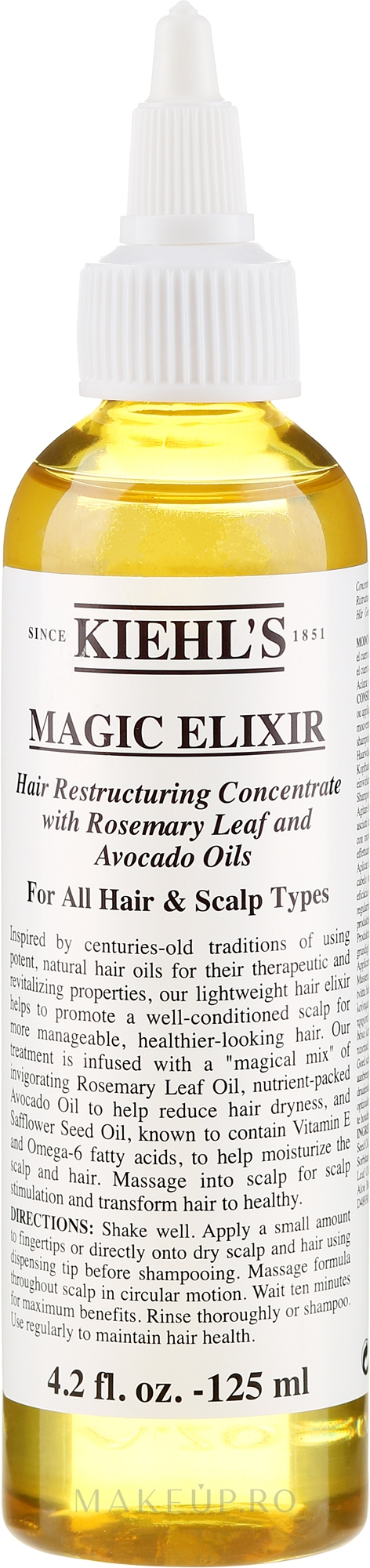 Elixir pentru păr - Kiehl's Magic Elixir Hair Restructuring Concentrate — Imagine 125 ml