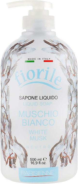 """Săpun lichid """"Mosc alb"""" - Parisienne Italia Fiorile White Musk Liquid Soap — Imagine N1"""