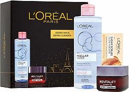 Parfumuri și produse cosmetice Set - L'Oreal Revitalift Laser X3 (cr/50ml + micellar/200ml + f/scrub/4ml)