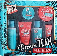Parfumuri și produse cosmetice Set - Dirty Works Dream Team Top To Toe Treats (sh/gel/100ml+b/bath/100ml+scrub/50ml+b/butter/50ml+lip/balm/10ml+h/cr/10g)
