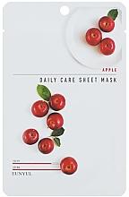 Parfumuri și produse cosmetice Mască facială nutritivă cu extract de mere - Eunyu Daily Care Sheet Mask Shea Apple