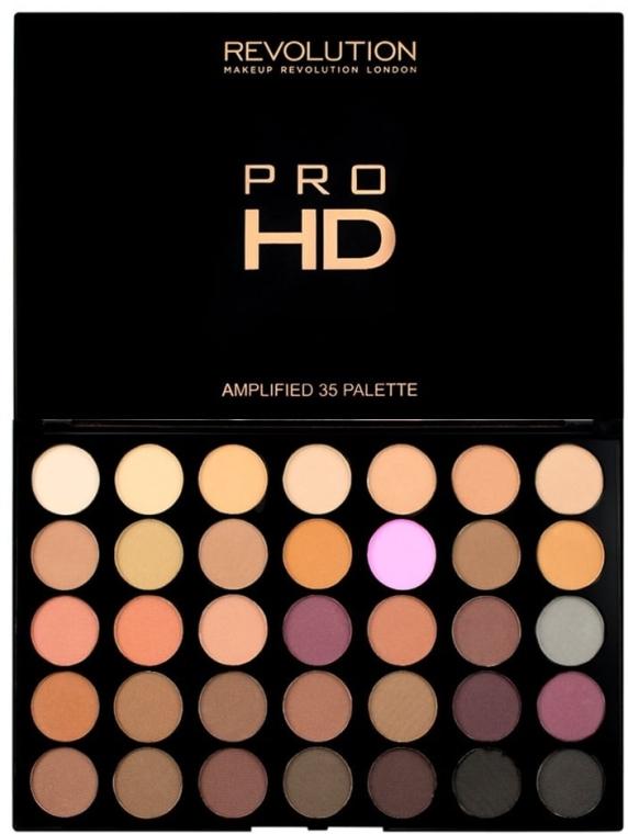 Paleta fard de ochi - Makeup Revolution Pro HD Palette Amplified 35