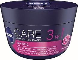 Parfumuri și produse cosmetice Cremă delicată de noapte pentru față - Nivea Care Night Light Face Cream