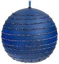 Parfumuri și produse cosmetice Lumânare decorativă, bilă, albastră, 10 cm - Artman Andalo