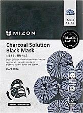 Parfumuri și produse cosmetice Mască de curățare din țesătură cu cărbune pentru față - Mizon Charcoal Solution Black Mask