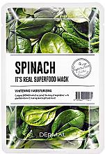 Parfumuri și produse cosmetice Mască facială cu extract de spanac - Dermal It'S Real Superfood Mask Spinach