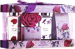 "Set ""Flori de primăvară cu Argan"" - Spa Moments Spring Flowers With Argan (sh/gel/100ml + salt/50g + sh/gel/100ml + salt/50g) — Imagine N1"