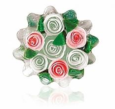 """Parfumuri și produse cosmetice Săpun natural din glicerină """"Trandafir"""", coșuleț, alb-ciclomen - Bulgarian Rose Glycerin Soap Rose Fantasy"""