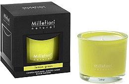 """Parfumuri și produse cosmetice Lumânare aromată """"Lemongrass"""" - Millefiori Milano Natural Candle Lemon Grass"""