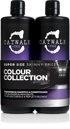 Set - Tigi Catwalk Fashionista, Blonde (shm/750ml + cond/750ml)