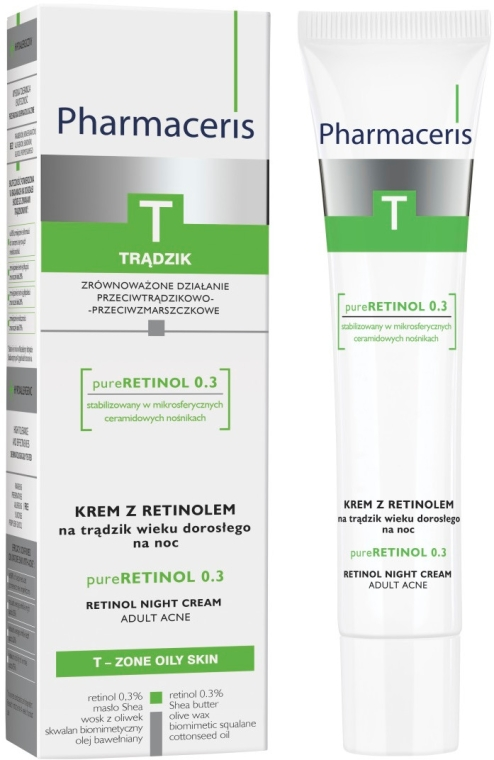 Cremă de noapte cu retinol anti-acnee - Pharmaceris T Pure Retinol 0.3 Night Cream — Imagine N2