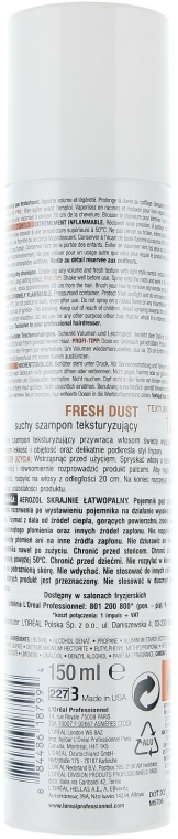Șampon uscat pentru volum dublu - L'Oreal Professionnel Tecni.art Fresh Dust Shampooing — Imagine N2