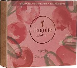"""Parfumuri și produse cosmetice Săpun natural pentru mâini și corp """"Merișor"""" - Flagolie by Paese Cranberry"""