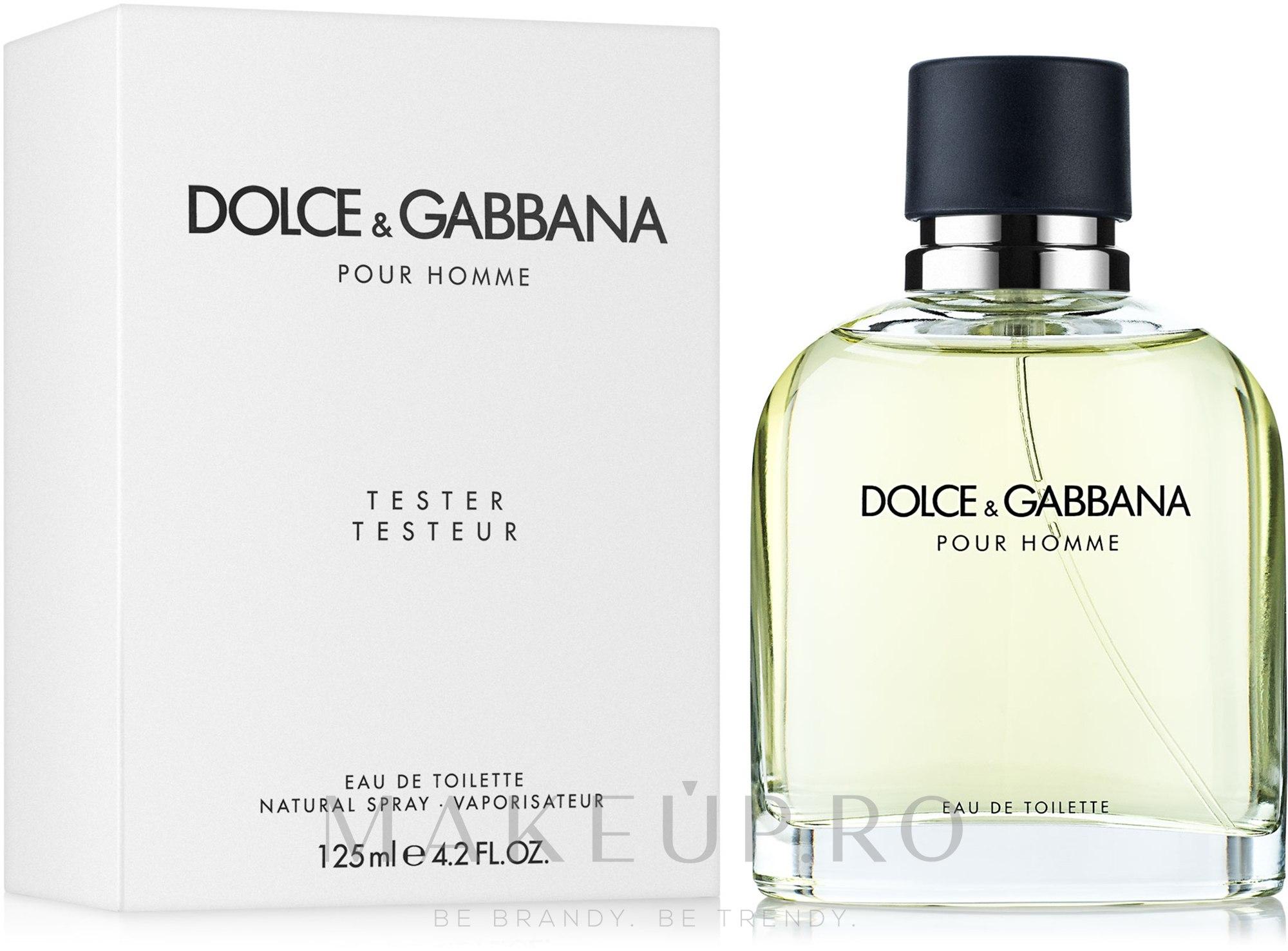 Dolce & Gabbana Pour Homme - Apă de toaletă (tester cu capac) — Imagine 125 ml