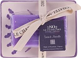 Parfumuri și produse cosmetice Săpun natural cu suport din ceramică - Le Chatelard Lavande Soap