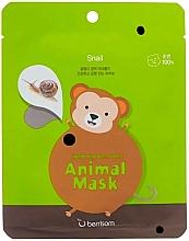 Parfumuri și produse cosmetice Mască de țesut cu mucină de melc - Berrisom Animal Mask Snail Series Monkey