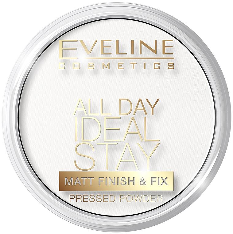 Pudră matifiantă de față - Eveline Cosmetics All Day Ideal Stay Matt Finish & Fix White-60