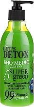 Parfumuri și produse cosmetice Săpun bio pentru mâini - Let's Detox 5 Super Green Soap