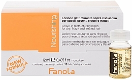 Parfumuri și produse cosmetice Fiole pentru păr uscat - Fanola Leave-In Restructuring Lotion