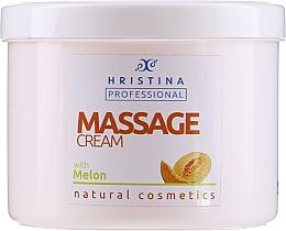 Parfumuri și produse cosmetice Cremă cu extract de pepene galben pentru masaj - Hristina Professional Massage Cream With Melon