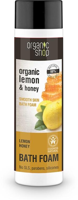 Spumă de baie, cu lămâie și miere - Organic Shop Organic Lemon and Manuka Golden Bath Foam — Imagine N1