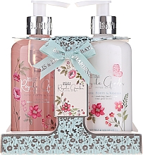 Parfumuri și produse cosmetice Set - Baylis & Harding Royale Garden Rose Poppy And Vanila (soap/300ml + h/cr/300ml)