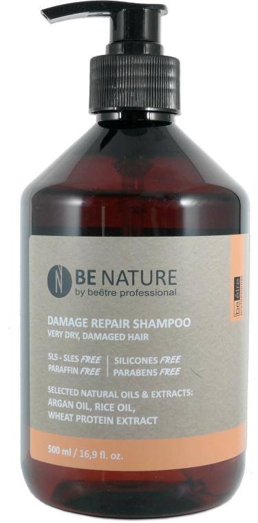 Șampon pentru păr uscat și deteriorat - Beetre BeNature Damage Repair Shampoo — Imagine N1