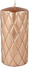 Parfumuri și produse cosmetice Lumânare aromată, 7x14 cm, roz-aurie - Artman Florence Candle