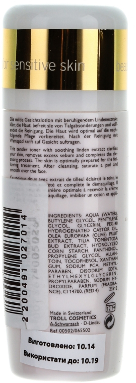Tonic pentru față - Declare Tender Tonifying Lotion — Imagine N2